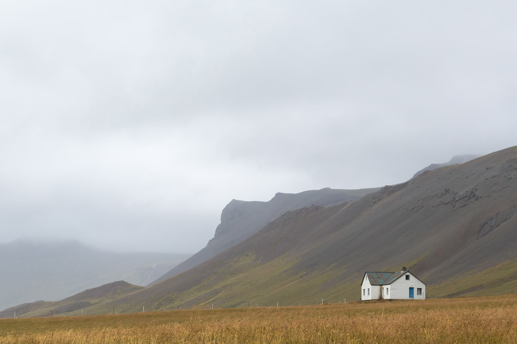 Lone house found on Road 54 on the Snaefellsnes Peninsula of Iceland